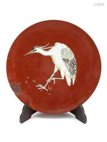 A Mintons Art Pottery Dish Circa 1900 depic