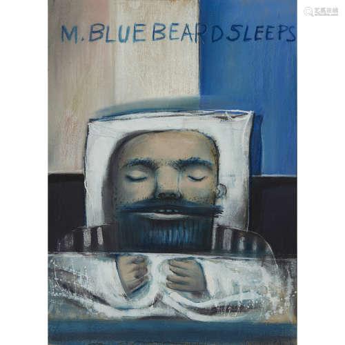 TOM MACDONALD R.G.I. (SCOTTISH 1914-1985) M. BLUEBEARD SLEEPS 1967, gouache 50cm x 36cm (19.75in