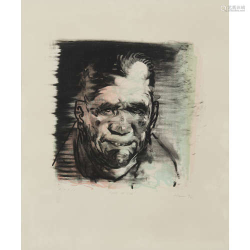 PETER HOWSON O.B.E. (SCOTTISH B.1958) FACE OF GOD Signed and inscribed with title and dated '