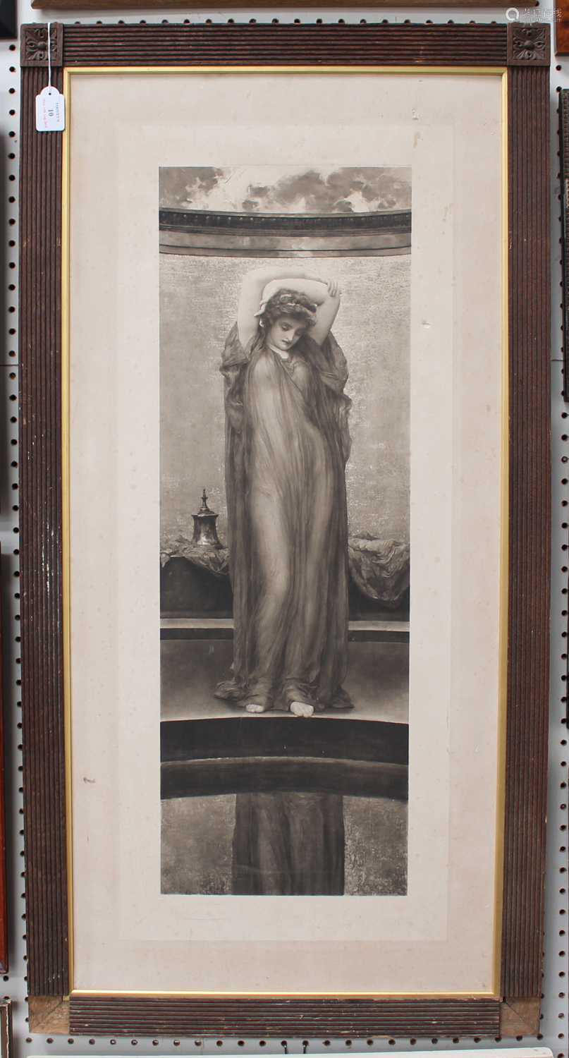 Frederic Leighton - Neo-Classical Female, photogravure, published by Henry Graves & Co circa 1894,