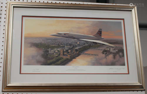 Adrian Rigby - 'Pride of Britain' and 'Flying the Flag' (Concorde over London and New York), two