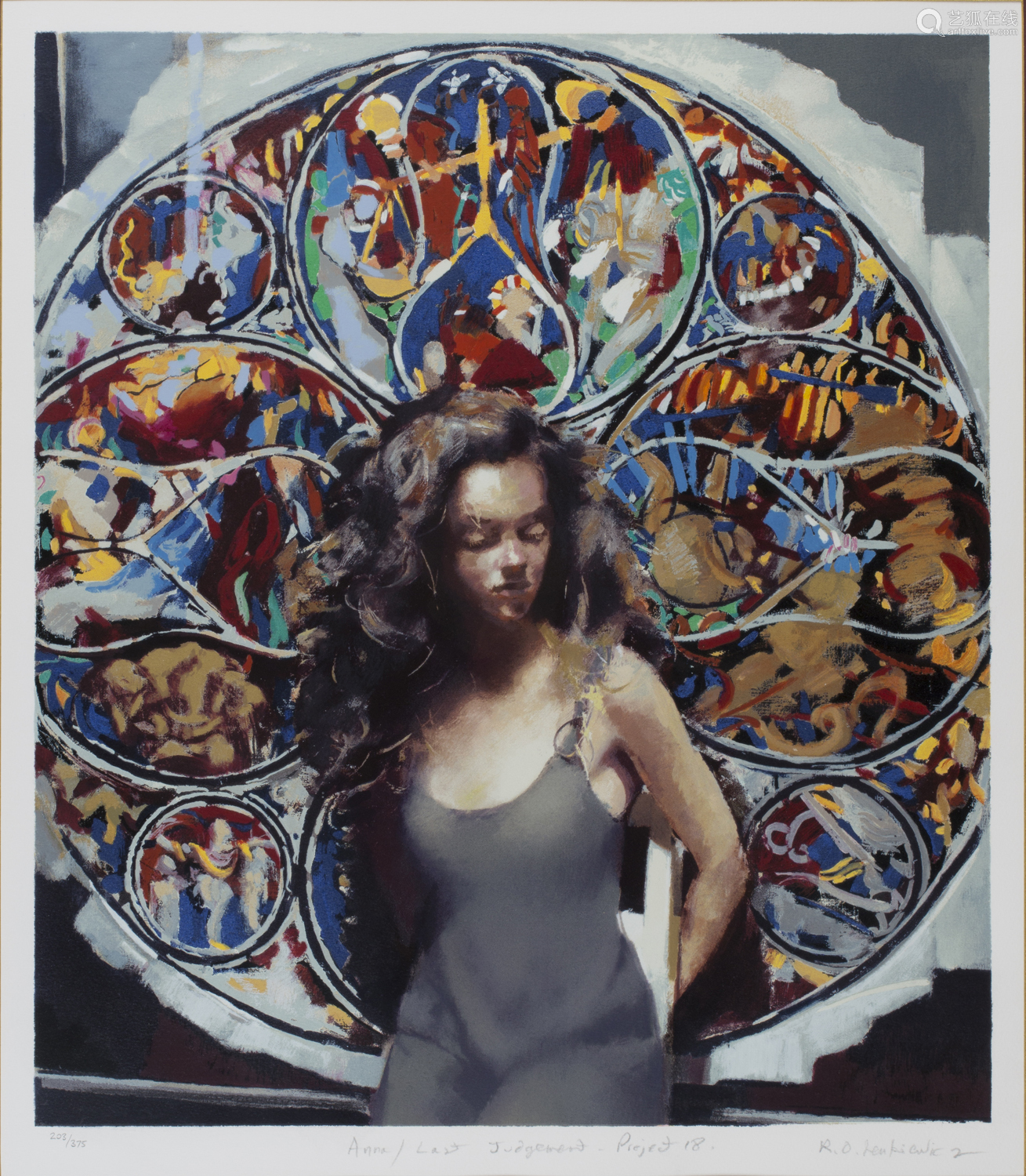 Robert O. Lenkiewicz - 'Anna / Last Judgement Project 18', 20th century colour print, signed, titled