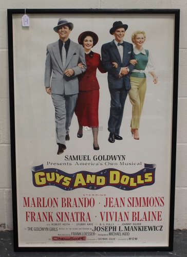 Samuel Goldwyn Productions (publisher) - 'Guys and Dolls' (Poster for the Movie), colour lithograph,