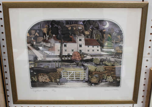 Graham Clarke - 'Ightham Mote', 20th century etching with aquatint, signed, titled and editioned