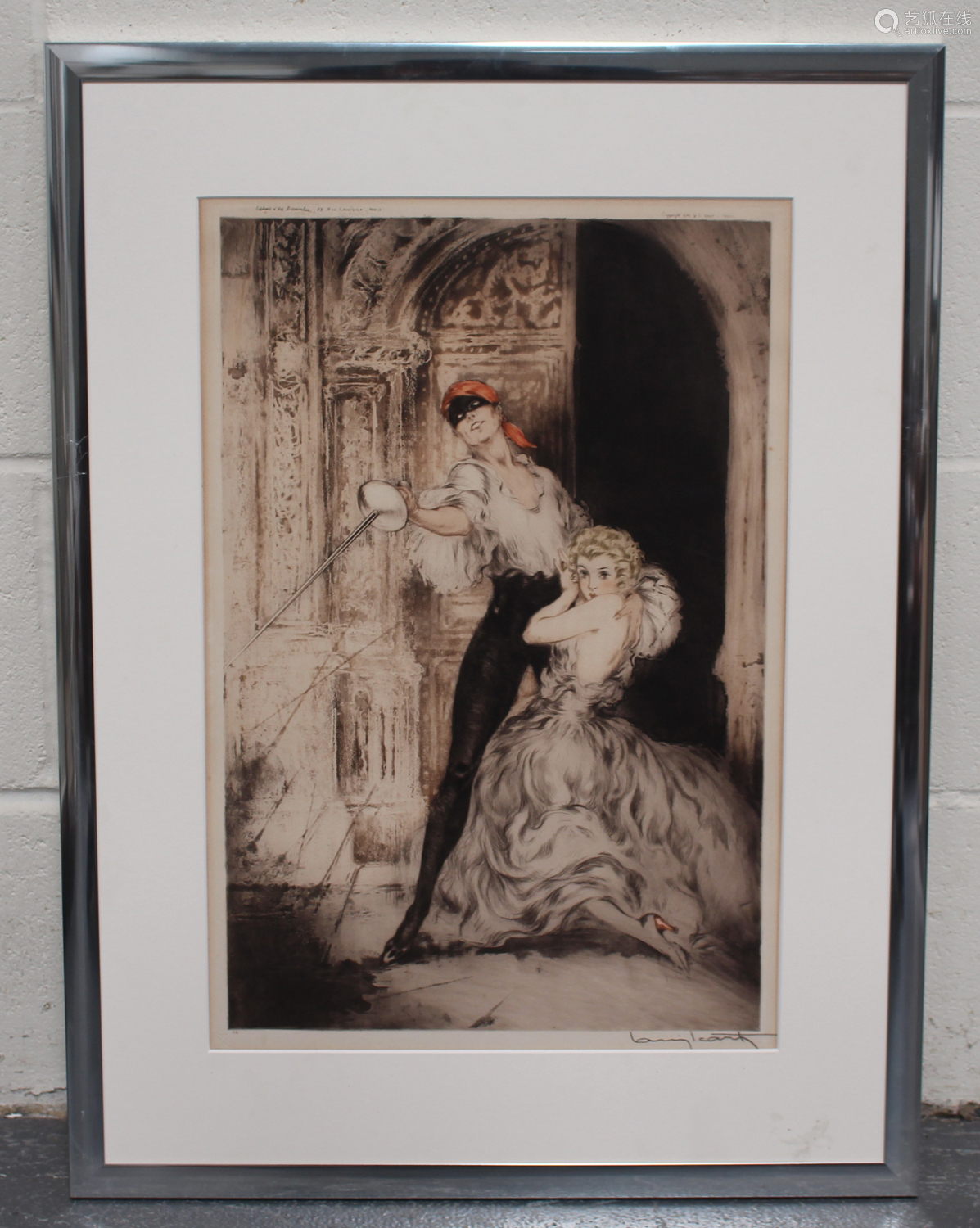 Louis Icart - Don Juan, etching with drypoint and aquatint, published by Icart circa 1928, signed
