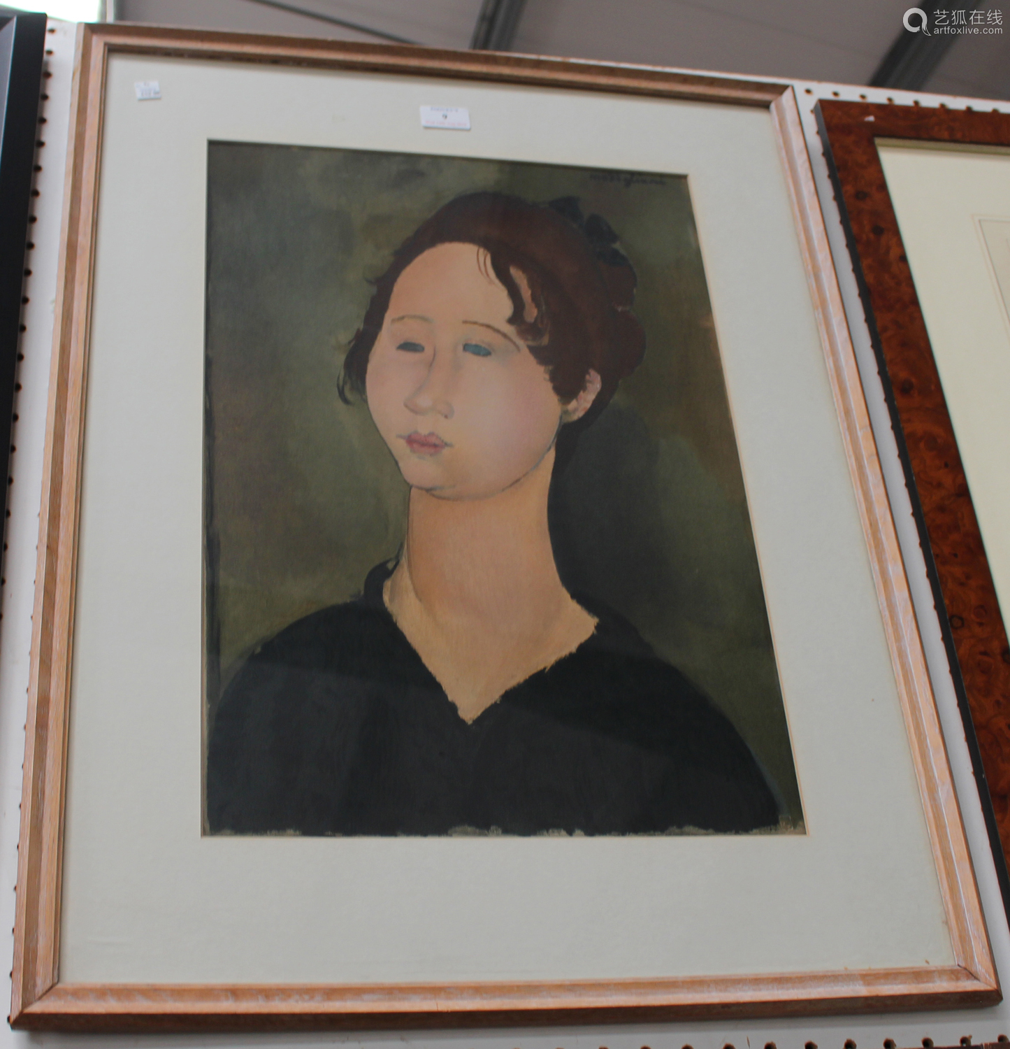 After Amedeo Modigliani - La Bourguignonne, mid-20th century collotype, published by Guy Spitzer,