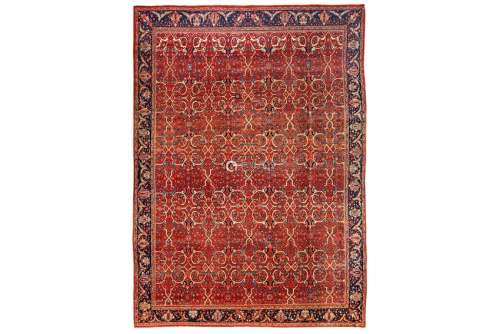 AN ANTIQUE FERAGHAN CARPET, WEST PERSIA