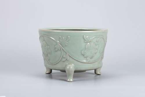 A Chinese Celadon Porcelain Incense Burner