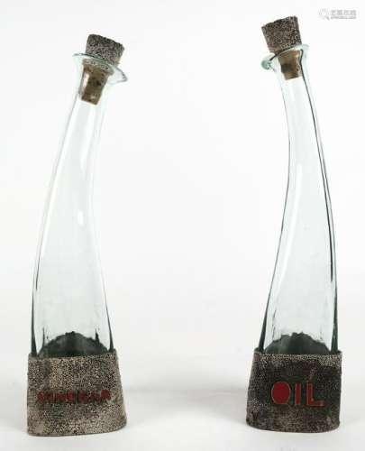 Art Deco-Style Oil & Vinegar Bottles