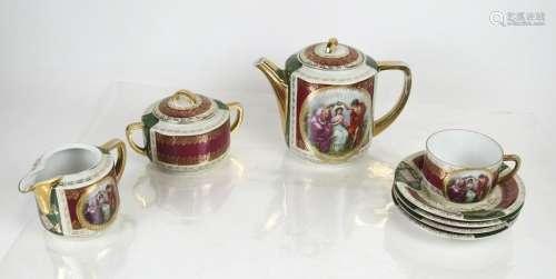 Partial Czech Porcelain Tea Set - 8 Pcs.