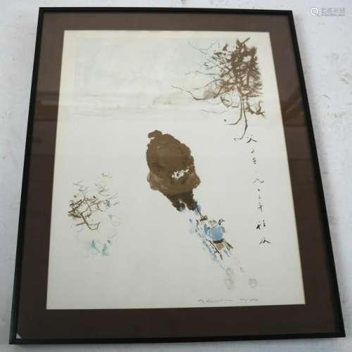 Japanese Print of Watercolor, #94-280