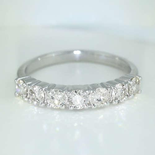 14 K White Gold IGI Certified 7 Solitaire Diamond Ring
