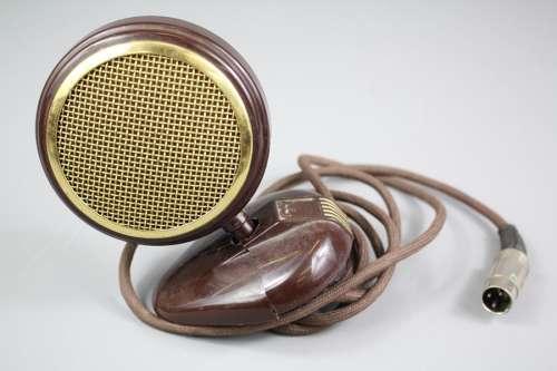 A Vintage Grundig Bakelite Microphone