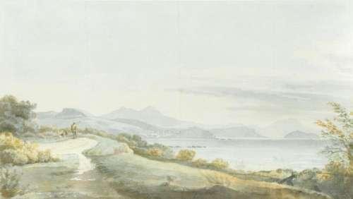 The Reverend Thomas Smith (British, circa 1780-1824), View of Lake Maggiore, Italy, watercolour,