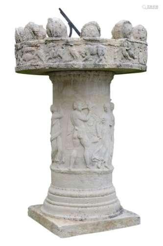Autel en pierre reconstituée faisant office de cad…