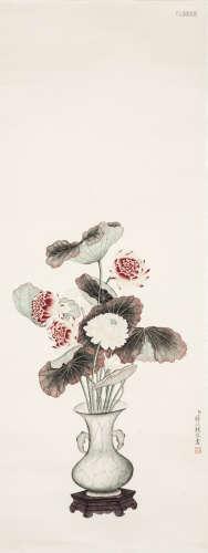 A Chinese Painting, Jiang Tingxi Mark