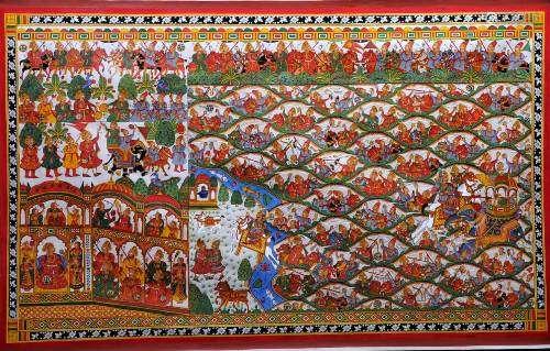 Phad painting batte of haldi ghati