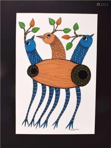 Gond & Tribal Art - Dilip Shyam (set of 3)