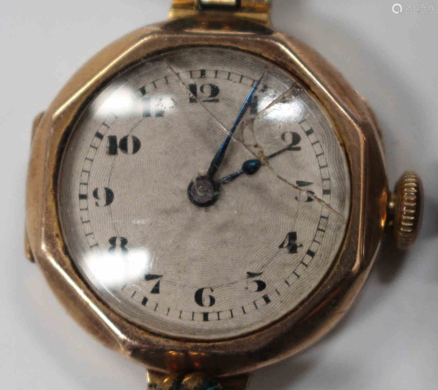 A silver cased keywind open-faced gentleman's pocket watch, the gilt fusee movement with a lever