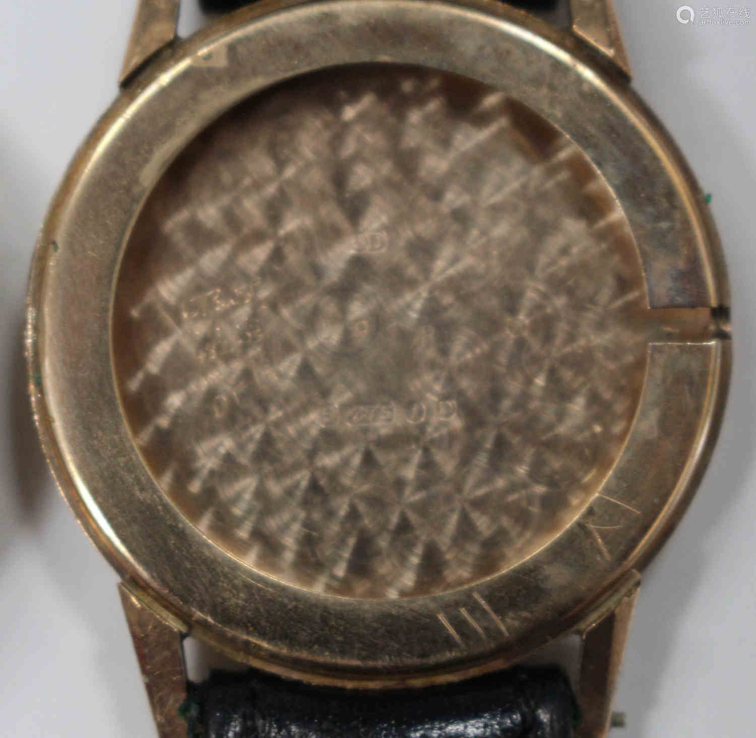 A Rotary 9ct gold circular cased gentleman's wristwatch, the signed silvered dial with gilt Arabic