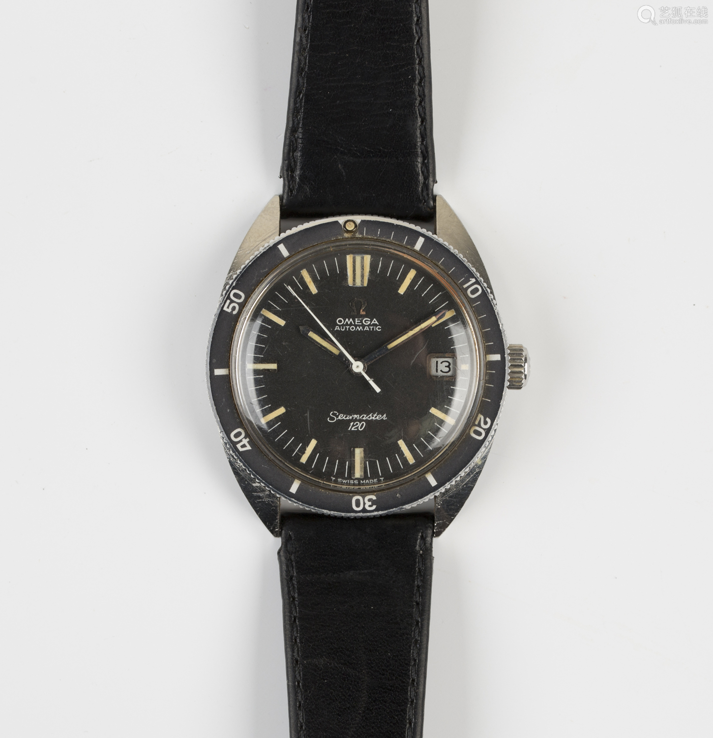 An Omega Seamaster 120 Automatic steel cased gentleman's wristwatch, the signed black dial with