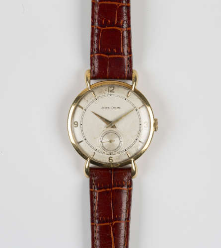 A Jaeger-LeCoultre 18ct gold cased gentleman's wristwatch, the signed jewelled movement numbered '