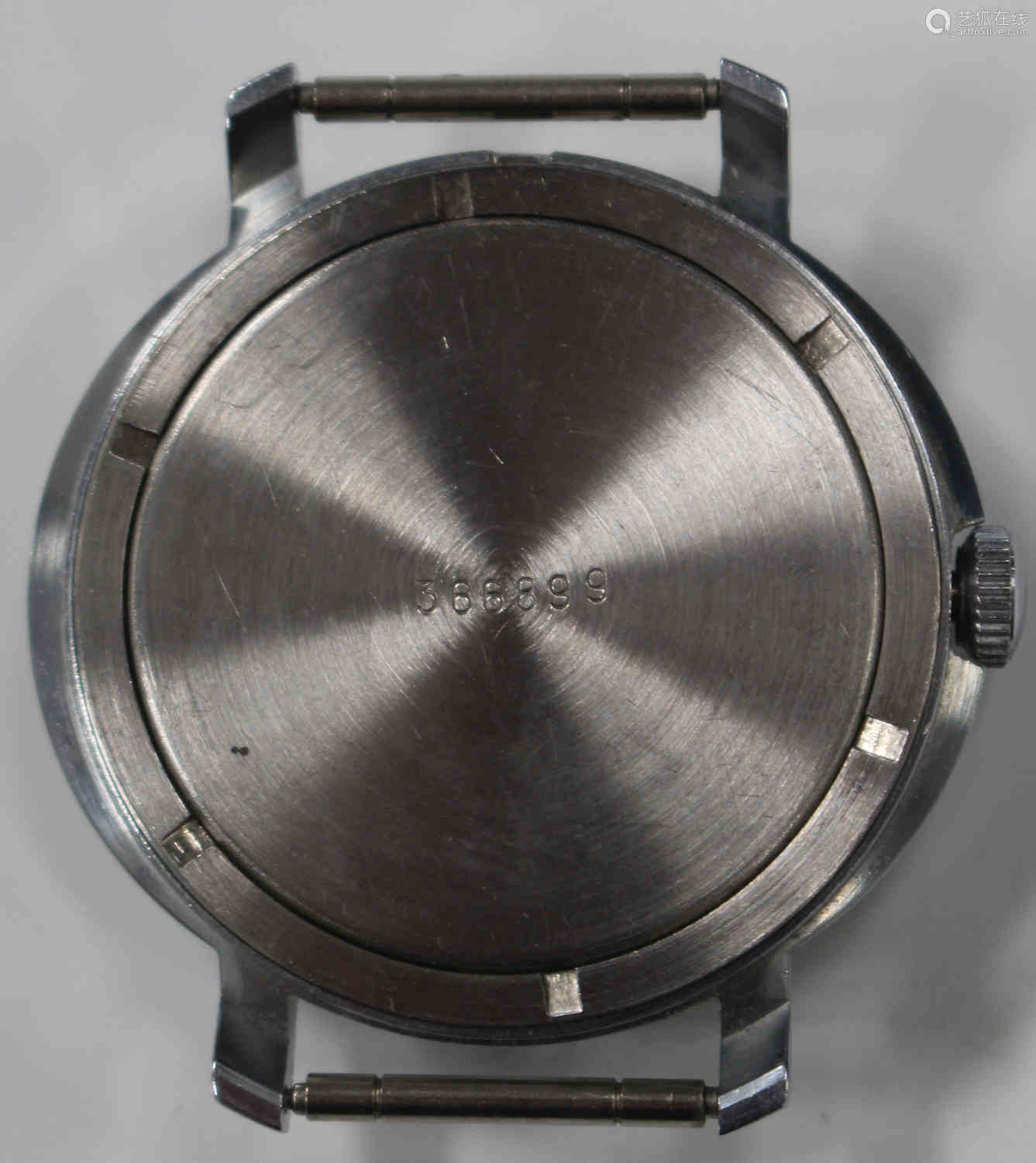 A Russian Vostok stainless steel cased gentleman's wristwatch, the Cyrillic signed black circular