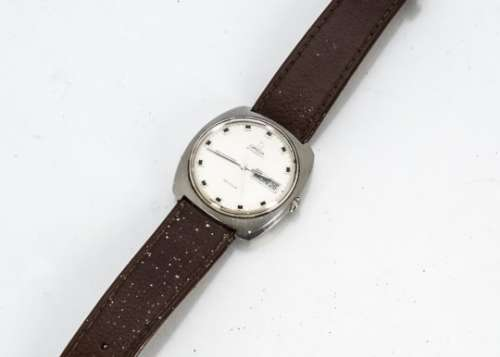 A c1960s Omega Automatic De Ville stainless steel gentleman's wristwatch, 35mm cushion shaped