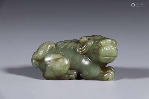 HETIAN GREEN JADE ORNAMENT
