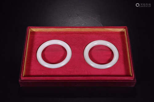 HETIAN JADE BANGLE IN PAIR