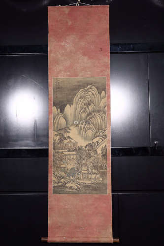 JURAN' MARK SILK SCROLL PAINTING