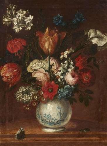 Johann Tobias Sonntag, Still Life with Flowers in …