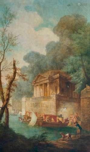 D'après Hubert ROBERT (1733 1808) \nL'embarcadère \n…