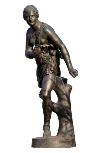Statue en fonte d'Atalante, d'après Pierre LEPAUTR…