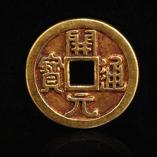 A GOLD COIN.ANTIQUE