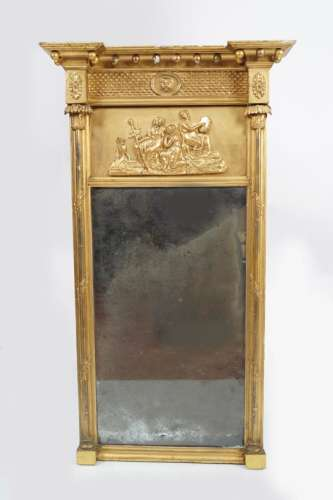 REGENCY GILT FRAMED PIER MIRROR