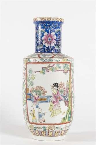 Chine grand vase en porcelaine H: 44 cm
