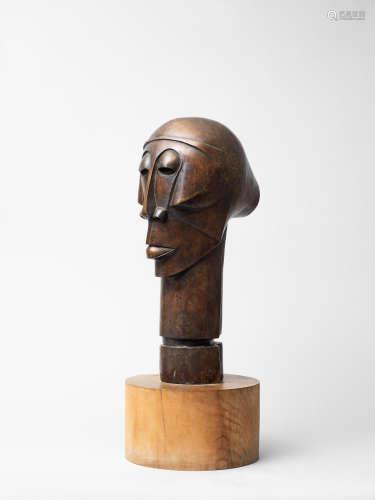Head 52 x 18.5 x 26cm (20 1/2 x 7 5/16 x 10 1/4in) (not including base) Dumile Feni-Mhlaba(Zwelidumile Mxgazi) (South African, 1942-1991)