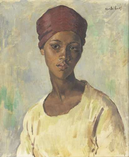 Portrait of a Young Malay Girl  Alfred Neville Lewis(South African, 1895-1972)