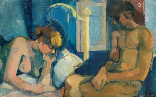 A couple in the bedroom Stanley Faraday Pinker(South African, 1924-2012)