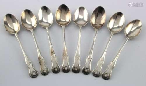 Eight Scottish silver teaspoons, hallmarked 'H.C & Co., Edinburgh 1881', weight 83g approx.
