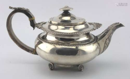 George III Teapot, Hallmarked London 1817 by George Hunter II. Total weight approx 26oz