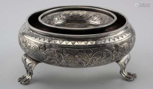 Malaysian silver posy ring rosebowl. Marked on base with either a Maker's mark or a State mark. 3.
