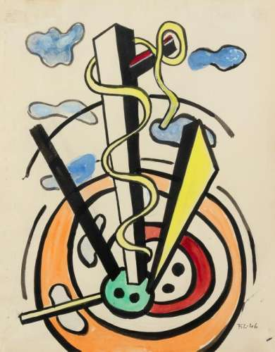 Fernand Leger (French, 1881-1955) Etude, 1946
