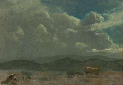 Albert Bierstadt (German/American, 1830-1902) Covered