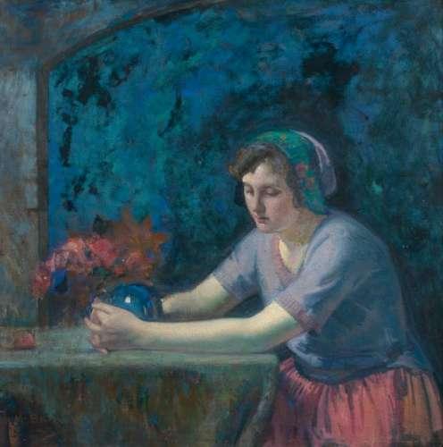 Myron Barlow  (American, 1873-1937) The Crystal Ball