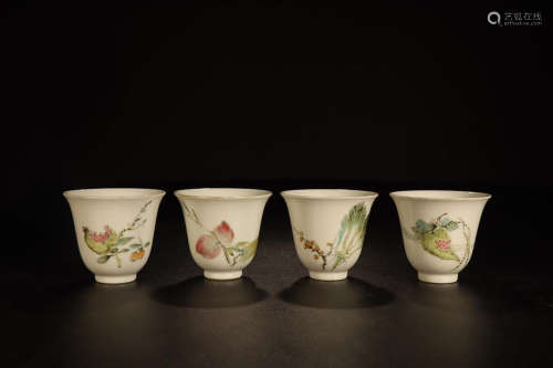 FAMILLE ROSE CUP 4-PIECE