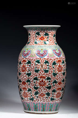 ENAMEL BIG VASE