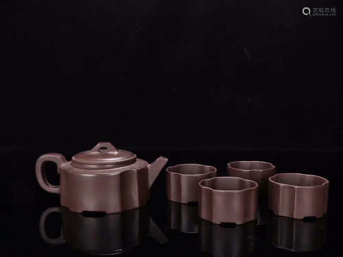 MINGJIA MARK ZISHA TEAPOT IN SET