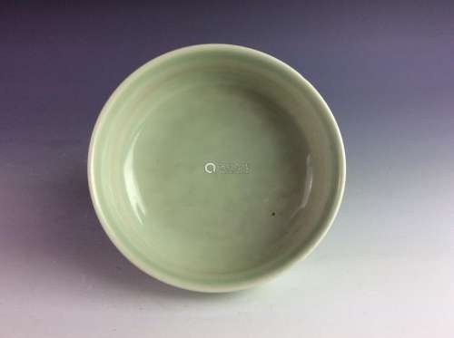 Chinese celadon glaze bowl mark on base.